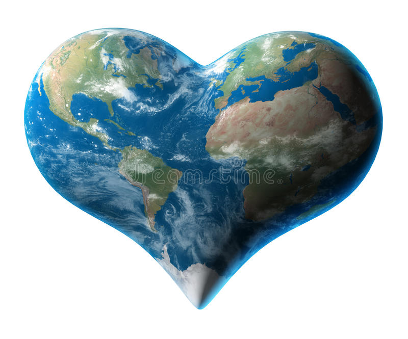 Earth Heart Stock Illustrations.