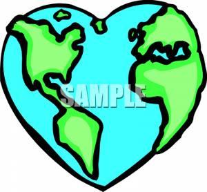 earth heart clipart.