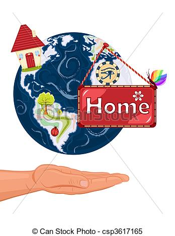 Clipart Vector of Home Sweet Home.