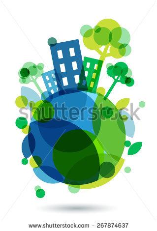 Earth house clipart #11