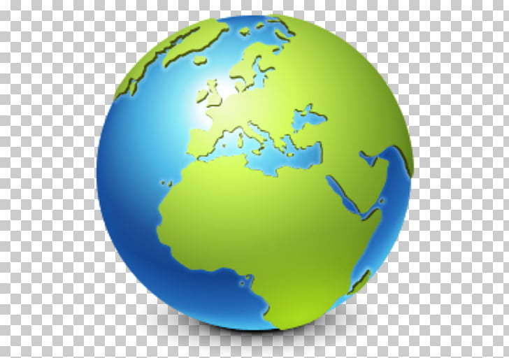 Earth Globe Icon, Globe , green and blue earth globe.