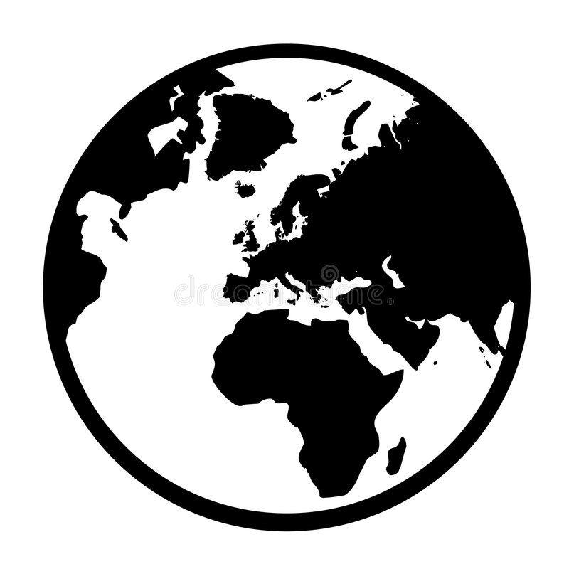 clipart globe simple.