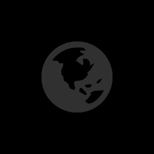 Earth, facebook, globe, notification icon.