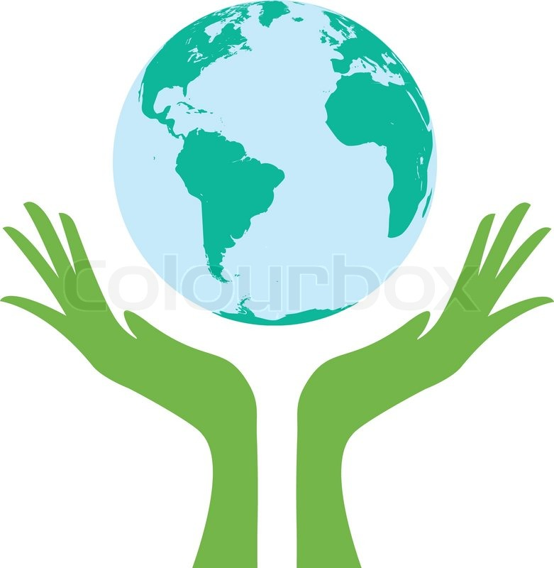 Earth supported by hands.