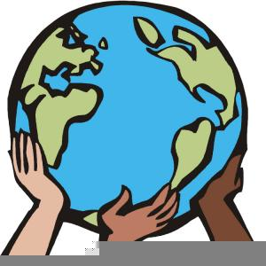 Hands Holding The Earth Clipart Image.