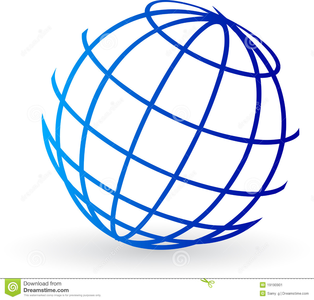 Globe logo stock vector. Illustration of communication.