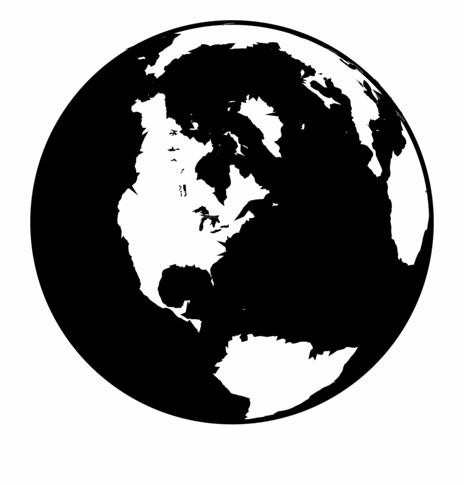 Black And White Globe Clip Art At Vector Clip Art Png.