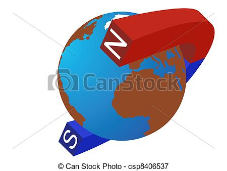Vectors Illustration of The poles of the Earth.