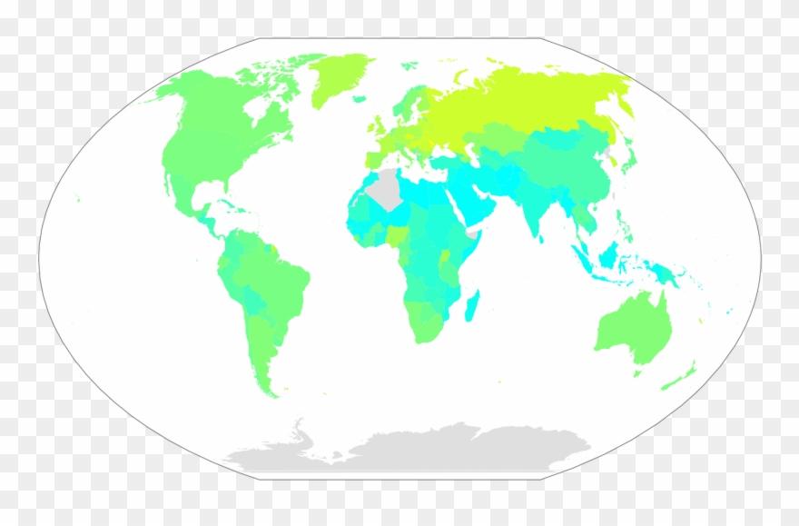 Weltkarte Alkoholkonsum.
