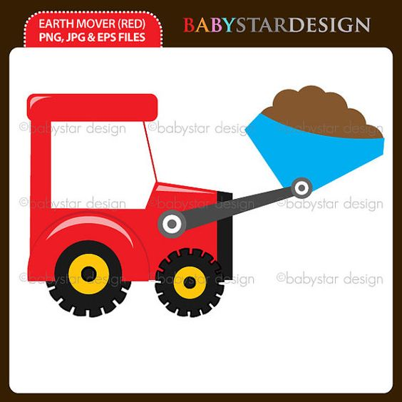 Earth Mover Clipart Single by babystardesign on Etsy, $1.50.