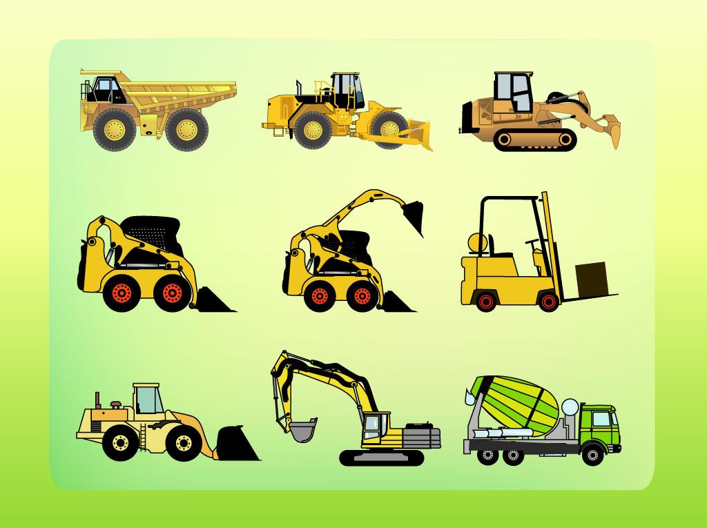 Construction Vehicles Vector Art & Graphics.