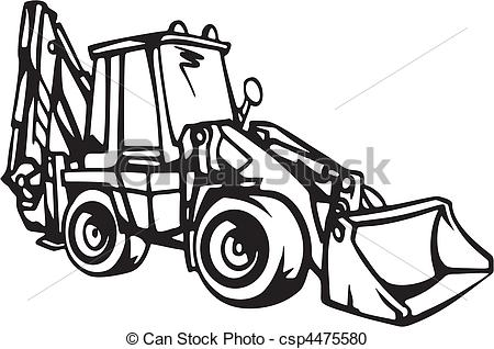 Vector Clipart of Earth Moving Vehicles csp4475580.