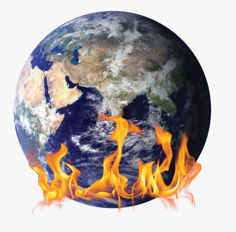 Transparent Earth On Fire Png.