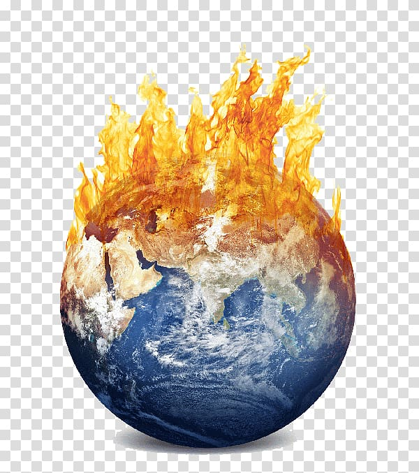Earth with fire , Global warming Intergovernmental Panel on.