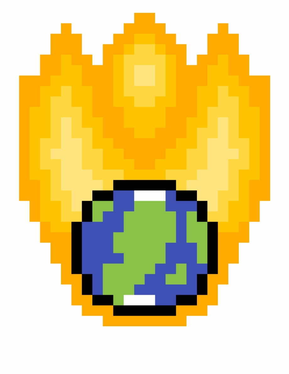 Fire Earth Minecraft Golden Apple Transparent Background.