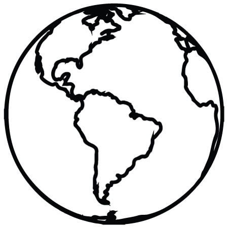 Earth Outline Clipart.