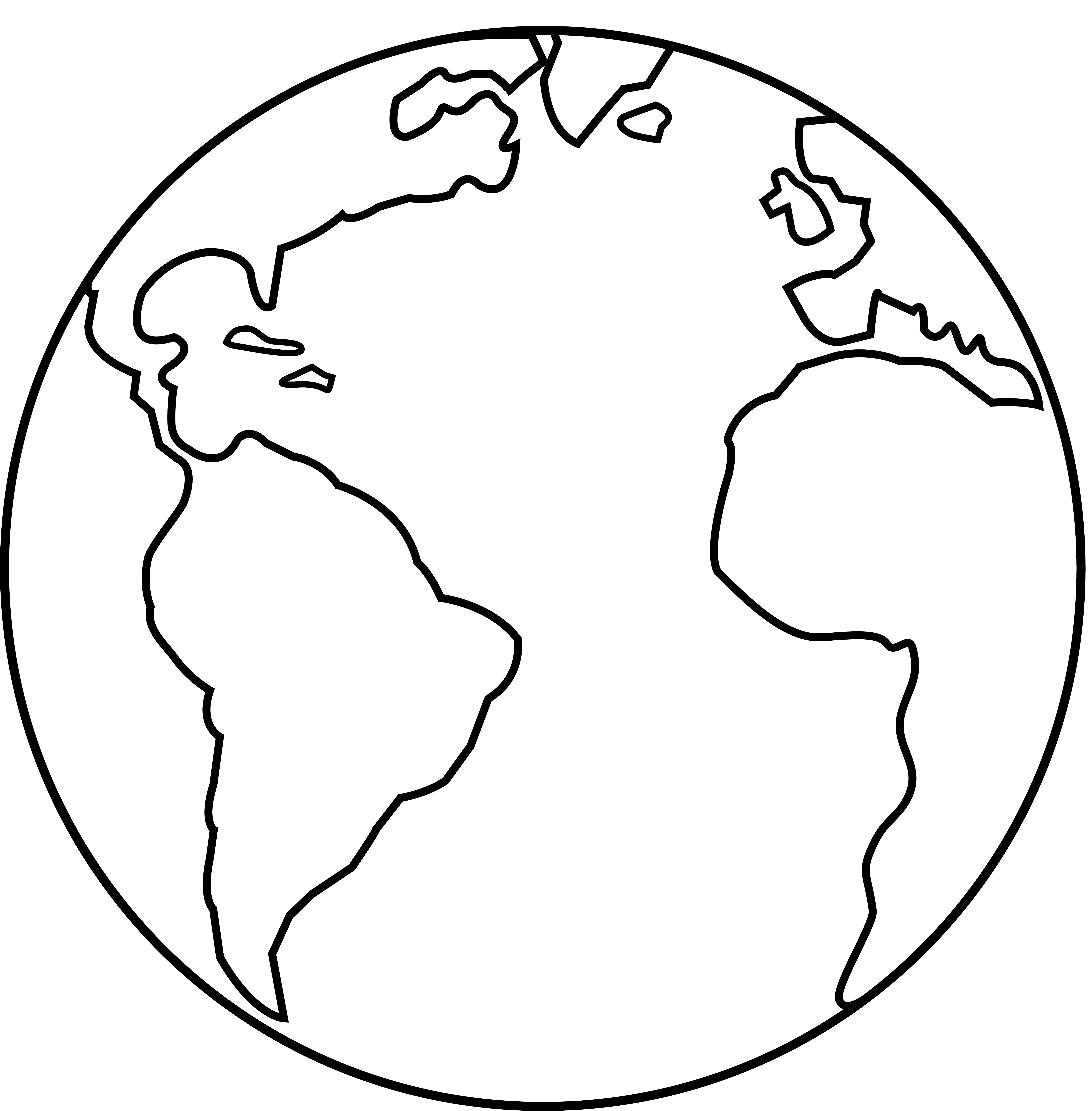 Earth clipart outline, Earth outline Transparent FREE for.