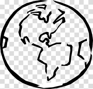 Outline Of Earth transparent background PNG cliparts free.