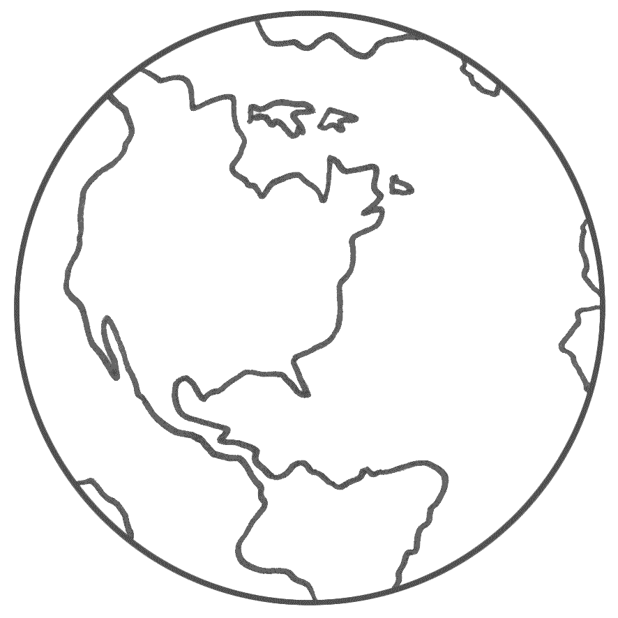 Earth Clipart Outline.