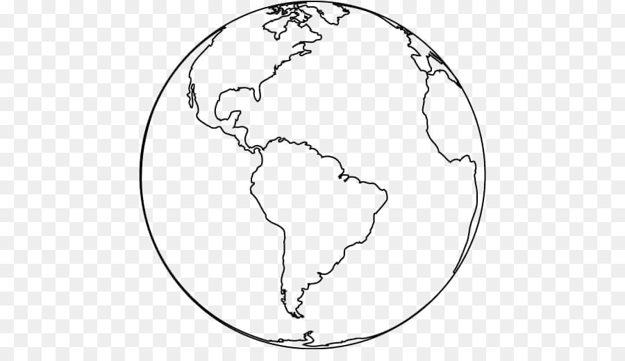 Earth Black And White png download.