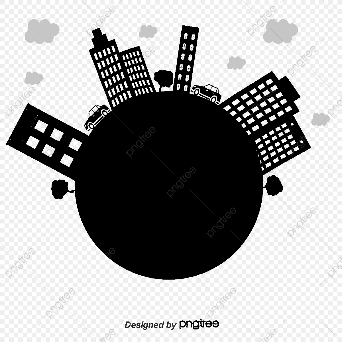 Vector Earth Outline And Construction, Earth, Building, Building.