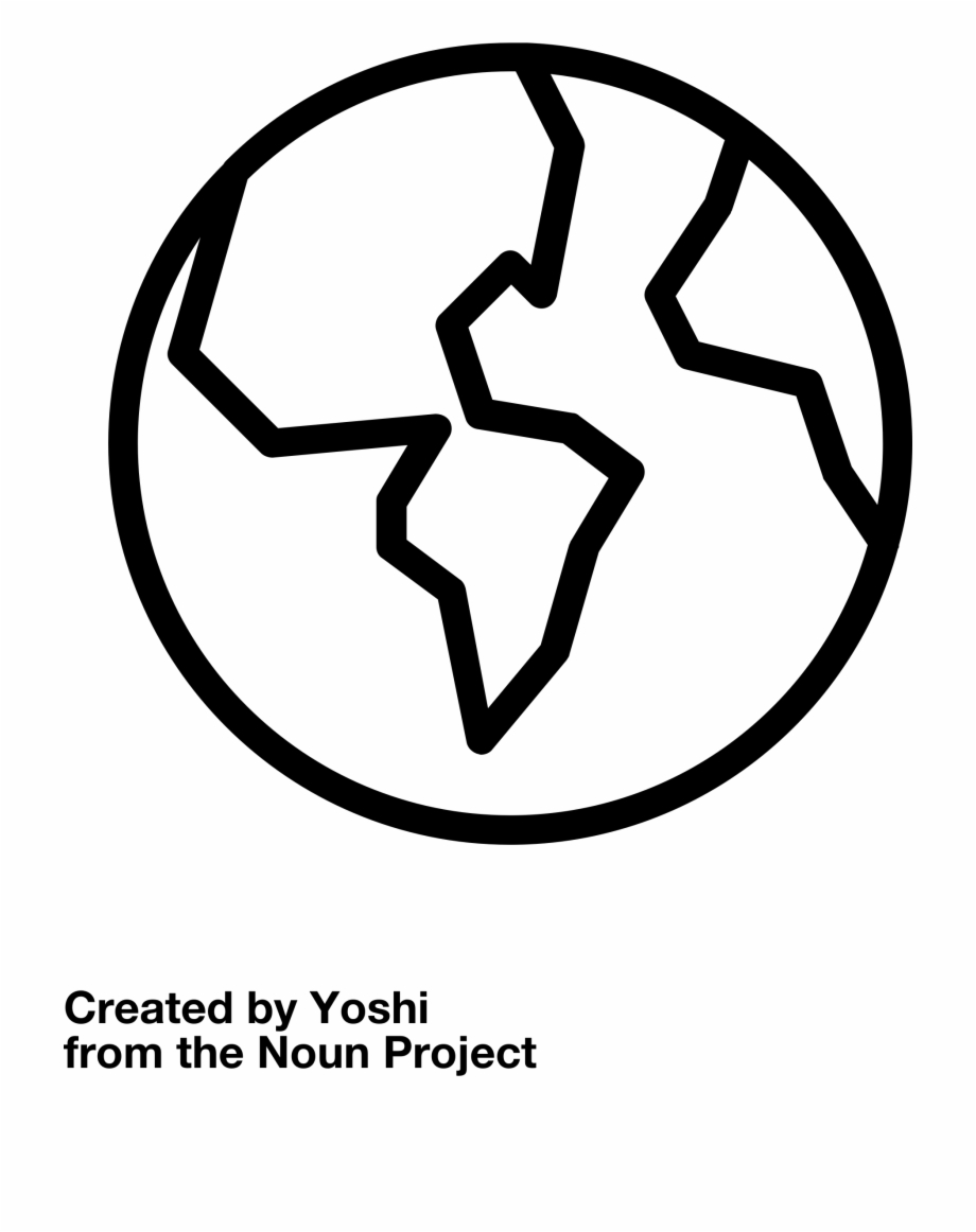 Earth Outline Vector Clipart Image.