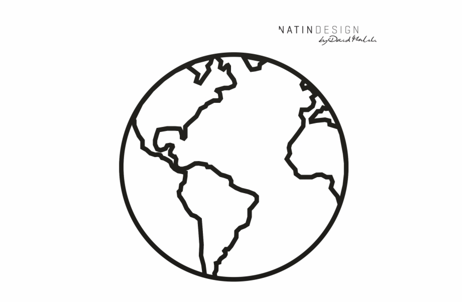 Outline Images Of Earth, Transparent Png Download For Free #3819770.