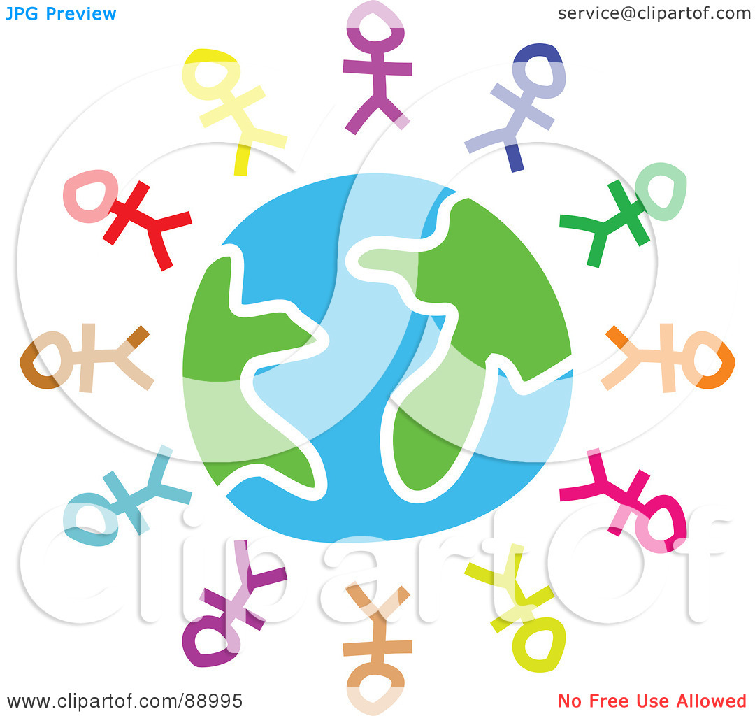 People on earth clipart.