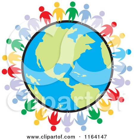 Clipart earth people.