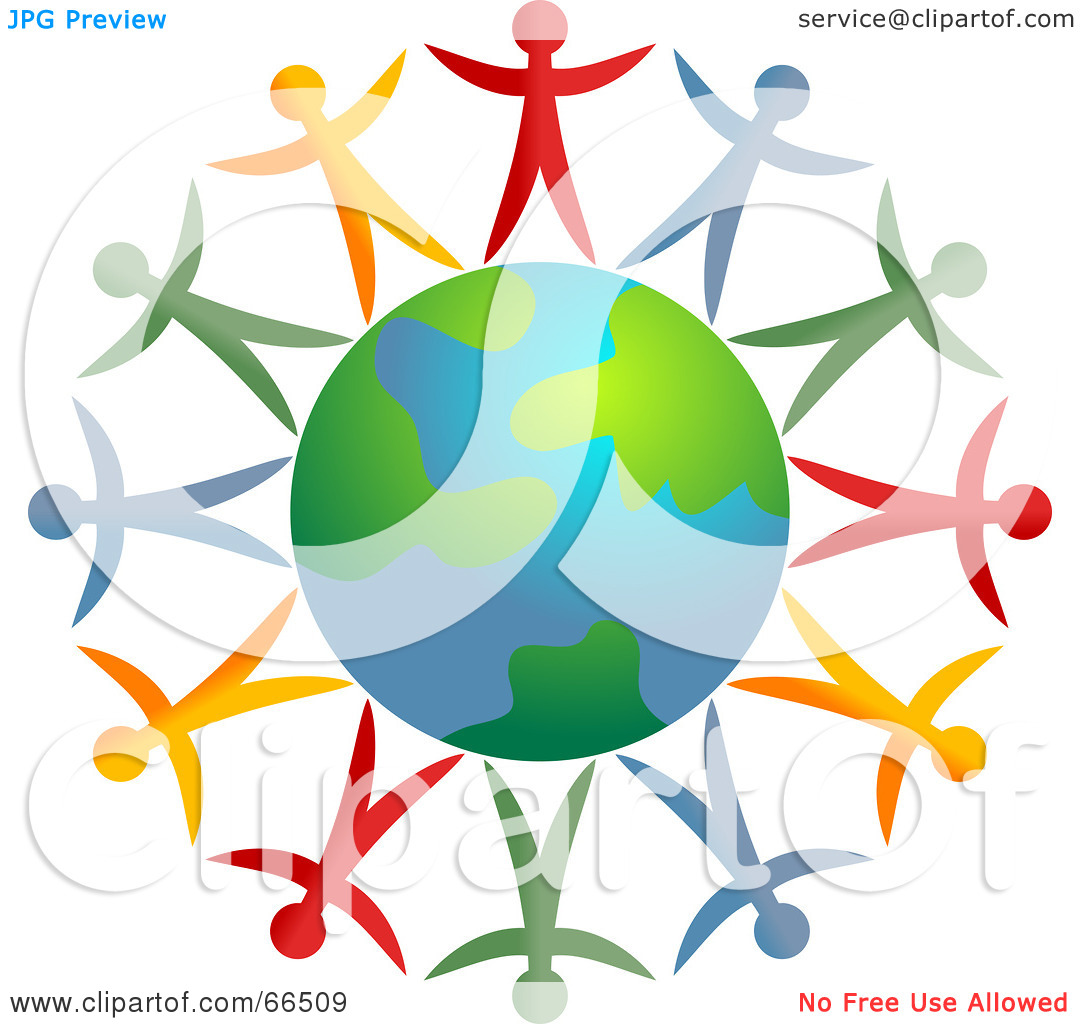 Earth with people clipart.