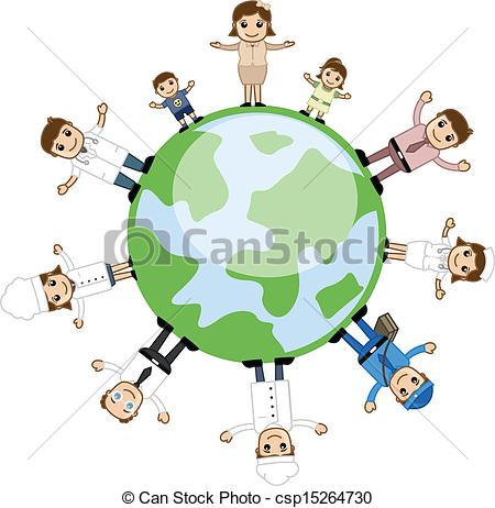 Earth and people clipart.