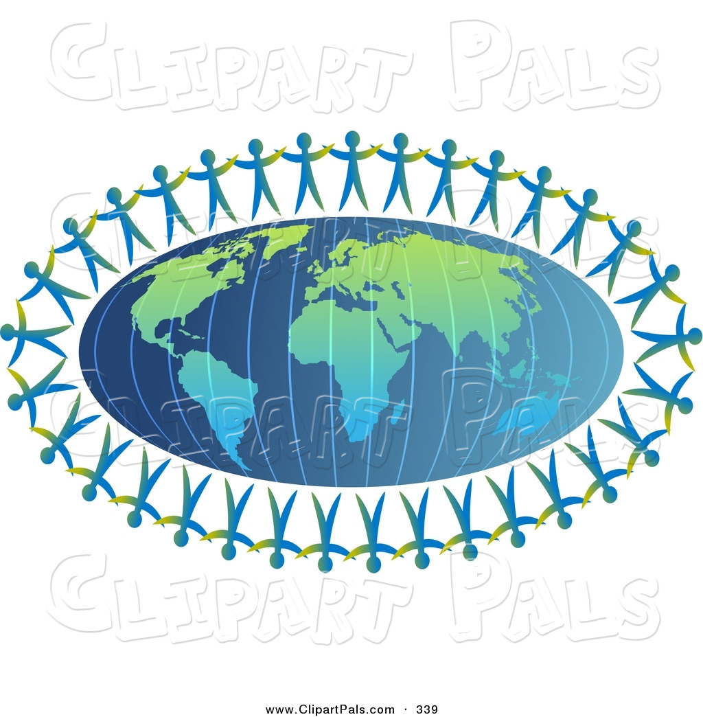 Clipart of people on earth.