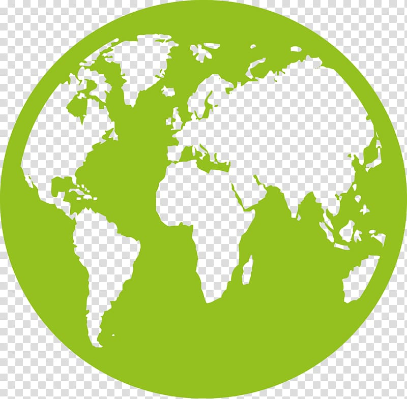 Green globe illustration, Earth Globe World map, Earth transparent.