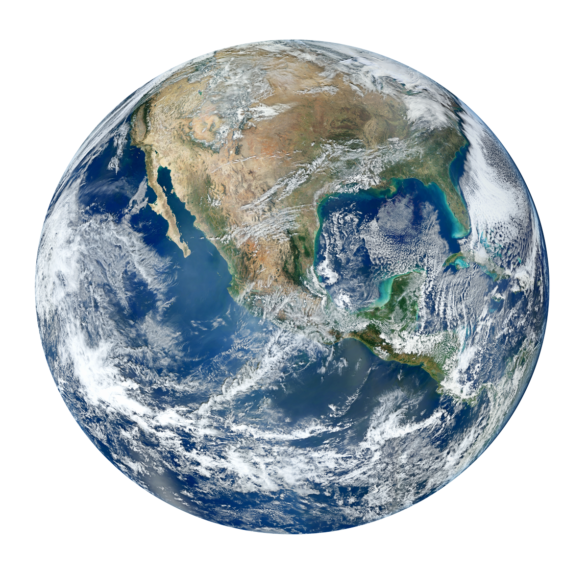 Earth Planet Transparent Background.