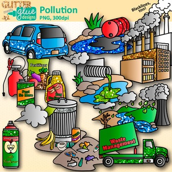 Pollution Clip Art: Earth Conservation of Land Graphics {Glitter Meets Glue}.