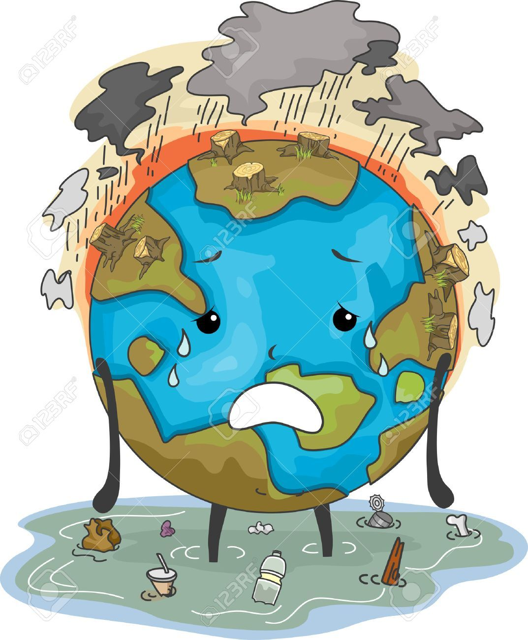 Earth pollution clipart 9 » Clipart Portal.