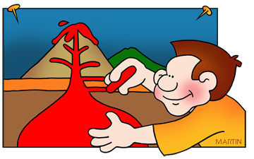 Earth Science Volcano Clipart.
