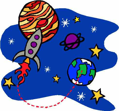 Rocket And Earth Clipart.