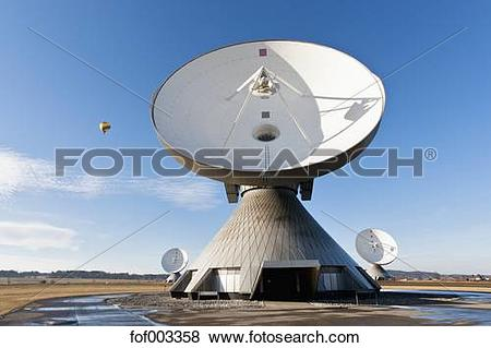 Pictures of Germany, Bavaria, Raisting, View of antennas at earth.