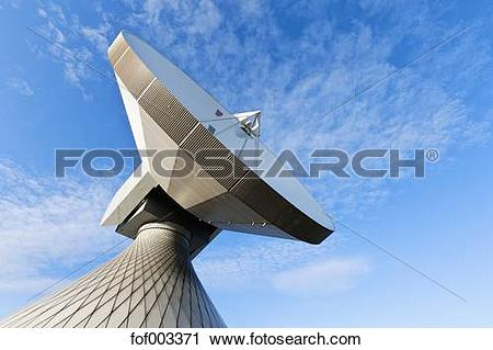 Stock Photography of Germany, Bavaria, Raisting, View of antennas.