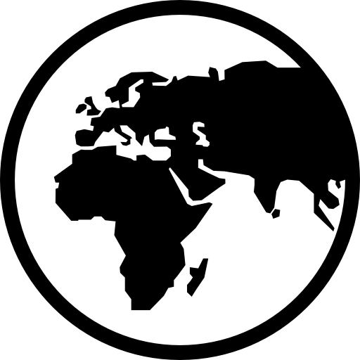 Earth globe symbol Icons.