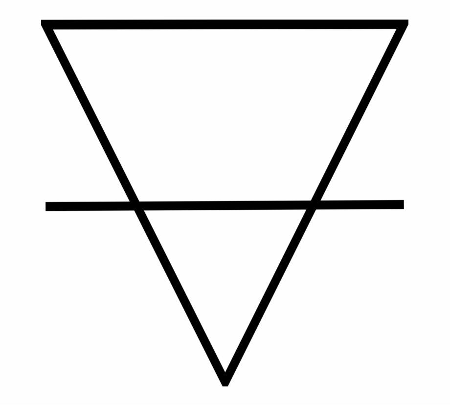 Classical Element Aether Symbol Earth Triangle.