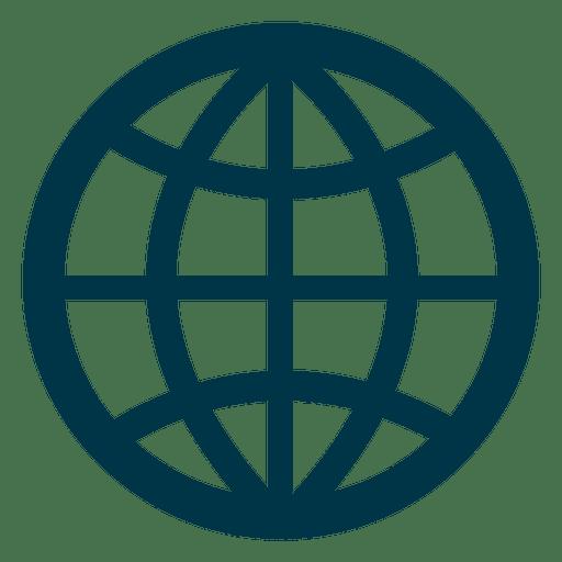 Grid earth icon.