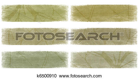 Stock Photography of Branch on nautral earth tones banner set.
