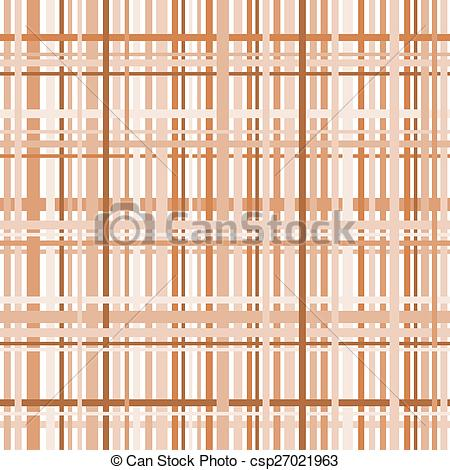 Clip Art Vector of Plaid pattern in earth tones in a square format.