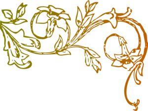 Earth Tone Floral Clip Art.
