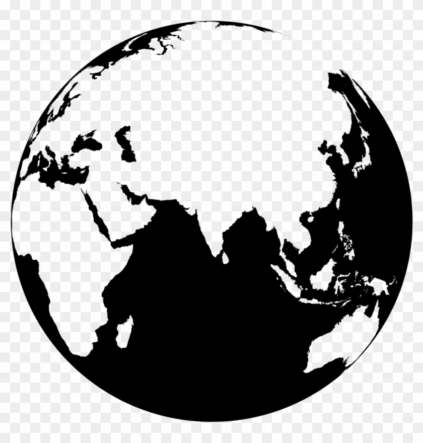 Black Globe Png.