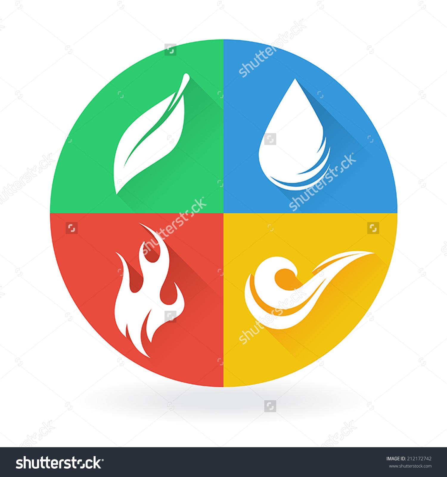 Earth Water Air Plant Clipart.