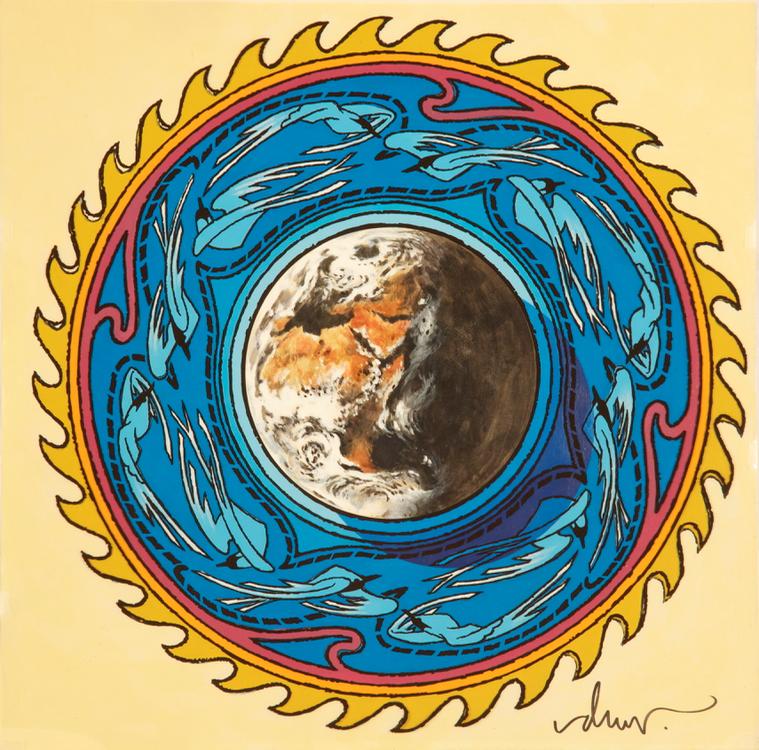 Earth, Wind & Fire Open Your Eyes Logo Art.
