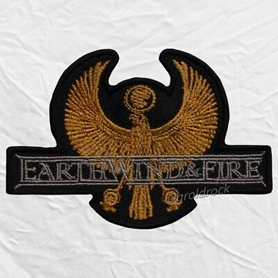 Earth Wind & Fire Eagle Logo Embroidered Patch Disco Maurice White Wade  Flemons.